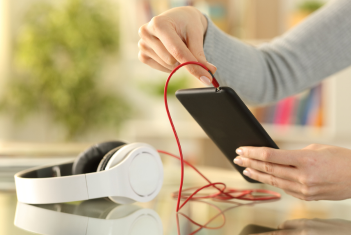 Try plugging your headphones into another device.